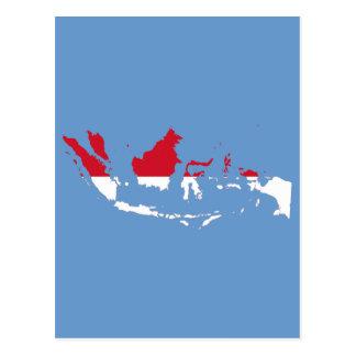 Indonesia ID, Jakarta, Flag Map Post Card