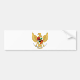 Indonesia, identificación, escudo de armas etiqueta de parachoque