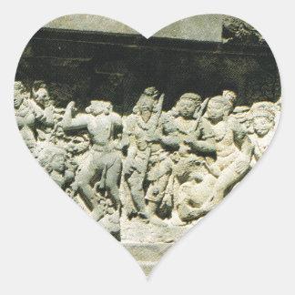 Indonesia, Java, Ramayana que talla, Prambanan Pegatina En Forma De Corazón
