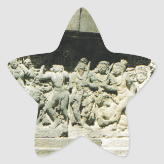 Indonesia, Java, Ramayana que talla, Prambanan Pegatina En Forma De Estrella