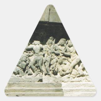 Indonesia, Java, Ramayana que talla, Prambanan Pegatina Triangular