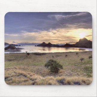 Indonesia, Komodo National Park. Sunset on one Mouse Pad