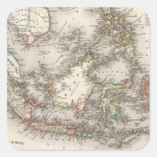 Indonesia, Malasia Pegatina Cuadrada