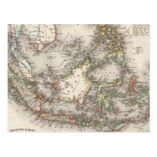 Indonesia, Malasia Postales