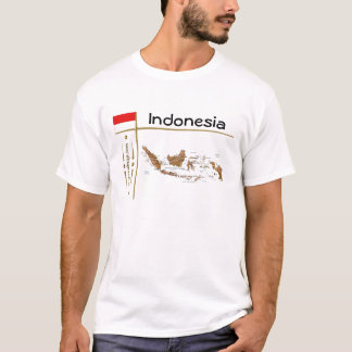 Indonesia Map + Flag + Title T-Shirt