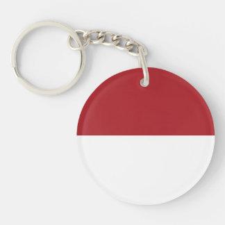 Indonesia Plain Flag Keychain