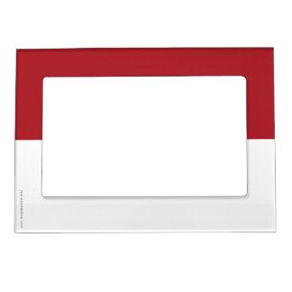 Indonesia Plain Flag Magnetic Photo Frame