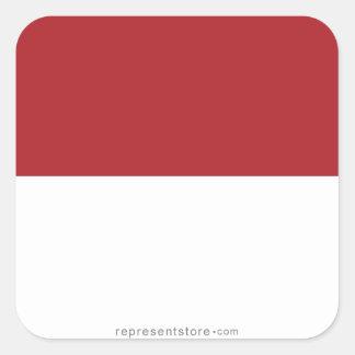 Indonesia Plain Flag Square Sticker