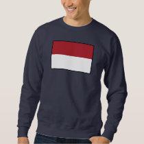 Indonesia Plain Flag Sweatshirt