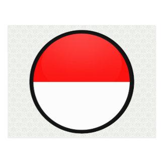 Indonesia quality Flag Circle Postcard