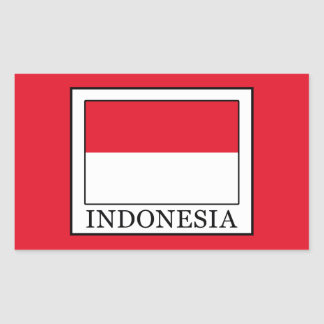 Indonesia Rectangular Sticker