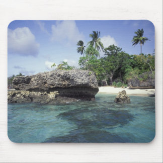 Indonesia. Rock formations along shore Mouse Pad