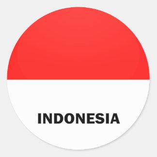 Indonesia Roundel quality Flag Classic Round Sticker