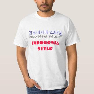 Indonesia Style (Hangeul) T-Shirt