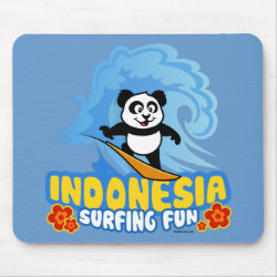 Mousepad with Indonesia Surfing Panda design