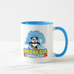 Combo Mug with Indonesia Surfing Panda design