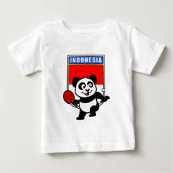 Baby Fine Jersey T-Shirt with Indonesian Table Tennis Panda design