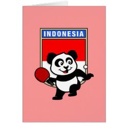 Greeting Card with Indonesian Table Tennis Panda design