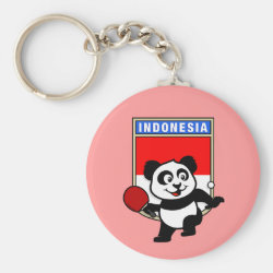Basic Button Keychain with Indonesian Table Tennis Panda design