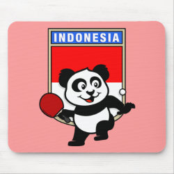Mousepad with Indonesian Table Tennis Panda design
