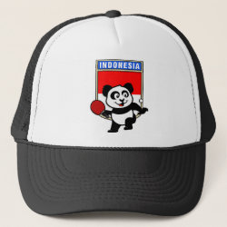 Trucker Hat with Indonesian Table Tennis Panda design