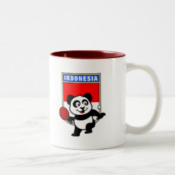 Two-Tone Mug with Indonesian Table Tennis Panda design
