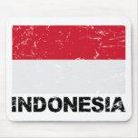 Indonesia Vintage Flag Mouse Pad