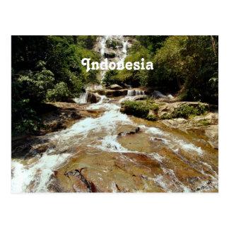 Indonesia Waterfall Post Card