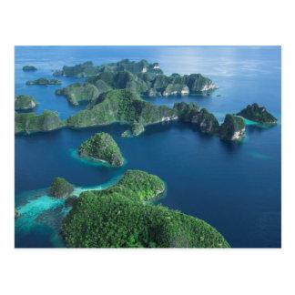 Indonesia, West Papua. Aerial Of Raja Ampat Postcard
