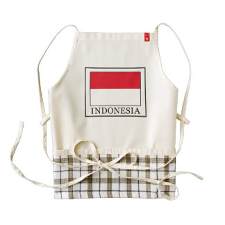 Indonesia Zazzle HEART Apron