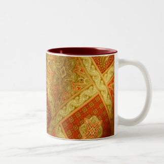 Indonesian Batik Two-Tone Coffee Mug
