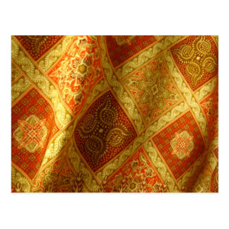 Indonesian Batik Postcard