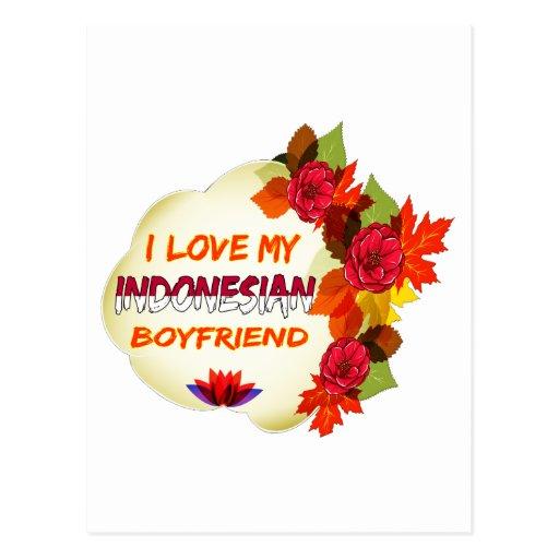 Indonesian Boyfriend Design Postcard