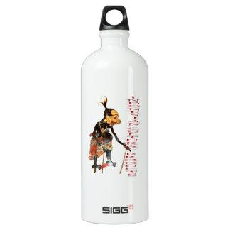 Indonesian cultural aluminum water bottle