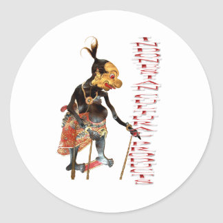 Indonesian cultural products classic round sticker