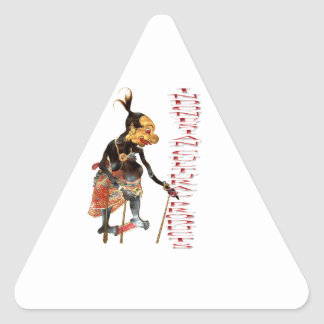 Indonesian cultural products triangle sticker