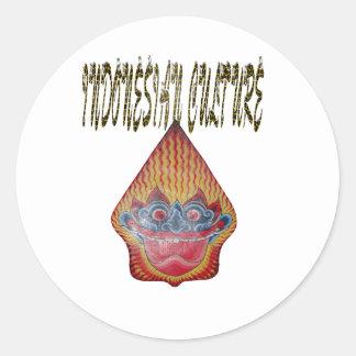 Indonesian culture classic round sticker