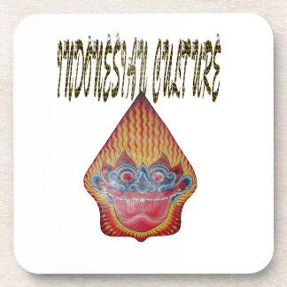 Indonesian culture drink coaster