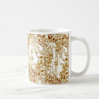 Indonesian design classic white coffee mug