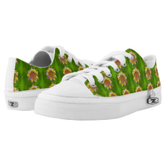 Indonesian Flower Zipz Low-Top Sneakers