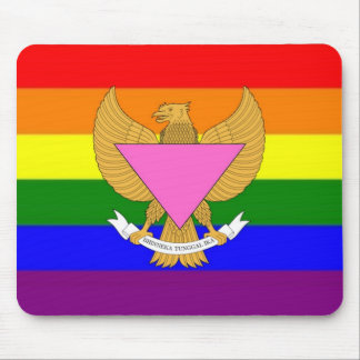 Indonesian GLBT Pride Flag Mouse Pad