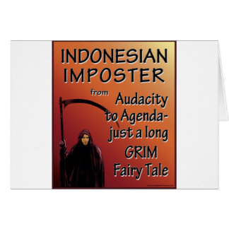 Indonesian Imposter Greeting Card