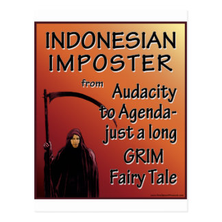 Indonesian Imposter Postcard