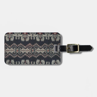 Indonesian Tribal Ikat Textiles Weavings Indonesia Luggage Tag