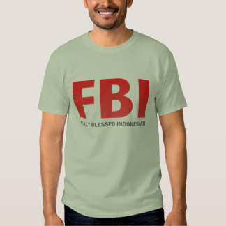 Indonesio completamente bendecido del FBI Remera
