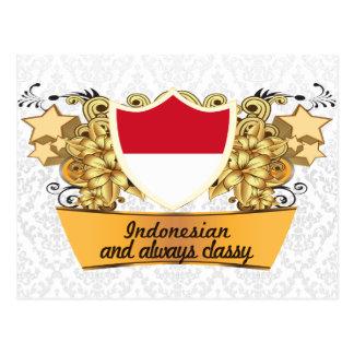 Indonesio con clase tarjeta postal