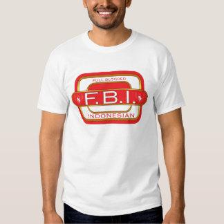 Indonesio de F B I Playeras