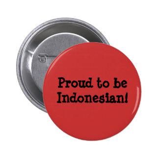 Indonesio orgulloso pin
