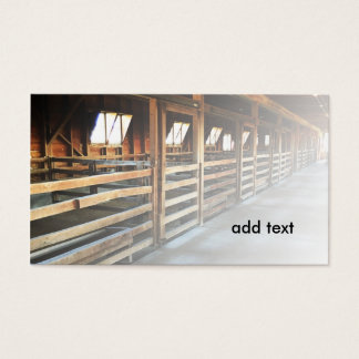 indoor barn stable business card