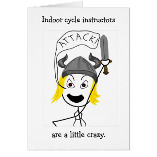 Indoor Cycling-Attack! greeting card